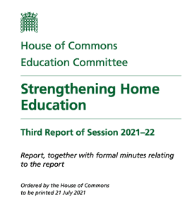 House of Commons Report front page